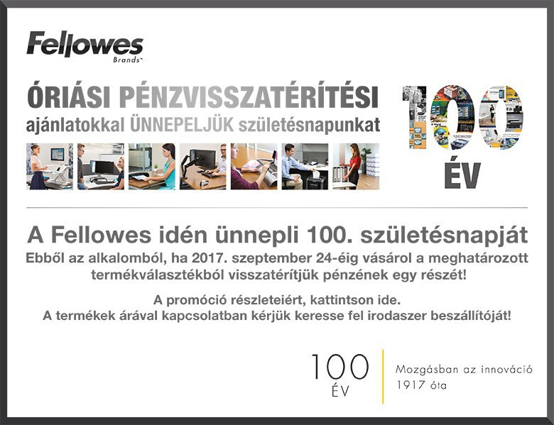 FELLOWS pénzvisszatérítési akció 2017. szeptember 24-ig