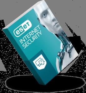 ESET INTERNET SECURITY termék bobozkép (sarkon álló)
